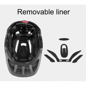 KINGBIKE Helm Modular Sepeda Anak Full Face Bike Riding Helmet Protective Gear - TSTK05 - Black - 4
