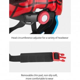 KINGBIKE Helm Modular Sepeda Anak Full Face Bike Riding Helmet Protective Gear - TSTK05 - Red - 5