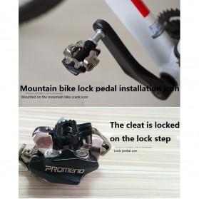 PROMEND Kunci Sepatu Pedal Sepeda Self-locking Pedal 2PCS - M96 - Black - 11