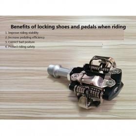 PROMEND Kunci Sepatu Pedal Sepeda Self-locking Pedal 2PCS - M96 - Black - 6
