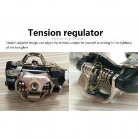 PROMEND Kunci Sepatu Pedal Sepeda Self-locking Pedal 2PCS - M96 - Black - 8
