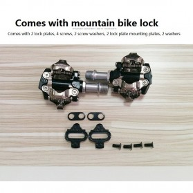 PROMEND Kunci Sepatu Pedal Sepeda Self-locking Pedal 2PCS - M96 - Black - 9