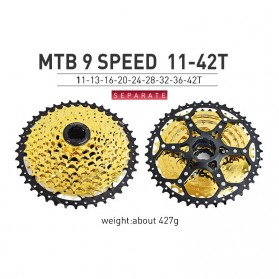 VG Sports Gigi Sprocket Sepeda Aluminium Round Ultralight 9 Speed 42T - VG72 - Golden