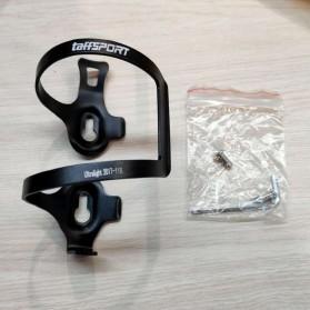 TaffSPORT Holder Botol Minum Sepeda MTB Aluminium Bottle Cage - 2017-11B - Black - 4