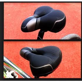SHENGXIN Sadel Sepeda Mountain Bike Saddle Cross Border Model Spring - SX-128 - Black - 8