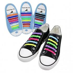 ASIFN Tali Sepatu Lazy Lace No Tie Shoelaces 16 PCS - XD0003 - White - 4