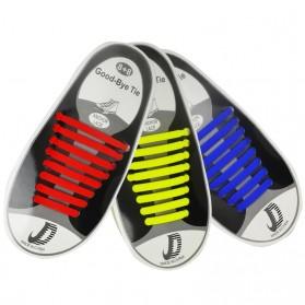 ASIFN Tali Sepatu Lazy Lace No Tie Shoelaces 16 PCS - XD0003 - White - 5