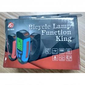 ANLOOK 2 in 1 Lampu Sepeda + Klakson Battery Version - AS0808 - Black - 5
