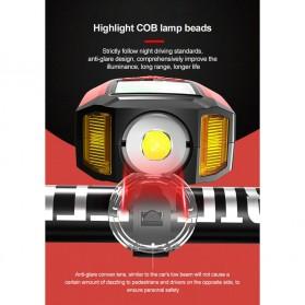 ANLOOK 2 in 1 Lampu Sepeda + Klakson Battery Rechargeable 1200mAh - AS0808 - Black - 2