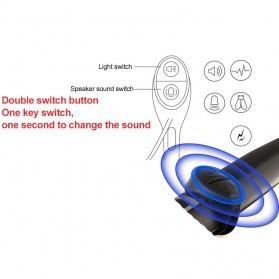 ANLOOK 2 in 1 Lampu Sepeda + Klakson Battery Rechargeable 1200mAh - AS0808 - Black - 4