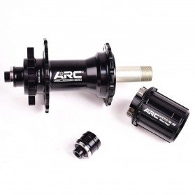 ARC Bicycle Hubs Sealed Bearing Freehub Front and Rear 32H D041SB-D042SB - MT-006F - Black - 5
