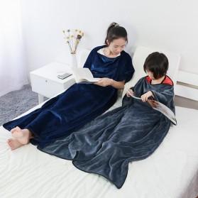 SALEN Selimut Bulu Lembut Travel Blanket Portable Soft Fleece - FC566 - Dark Gray - 10