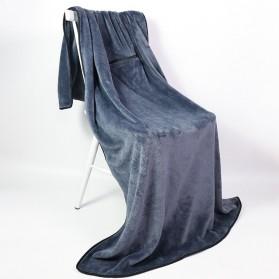SALEN Selimut Bulu Lembut Travel Blanket Portable Soft Fleece - FC566 - Dark Gray - 2