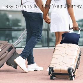 SALEN Selimut Bulu Lembut Travel Blanket Portable Soft Fleece - FC566 - Dark Gray - 6