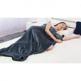 SALEN Selimut Bulu Lembut Travel Blanket Portable Soft Fleece - FC566 - Dark Gray - 7