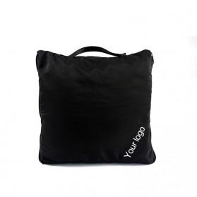 SALEN Selimut Bulu Lembut Travel Blanket Portable Soft Fleece - FC566 - Dark Gray - 9