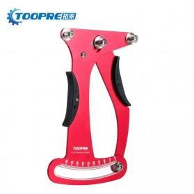 Toopre Alat Pengukur Ketegangan Jari-Jari Sepeda Spoke Tension Attrezi Meter Checker - TP-01 - Red