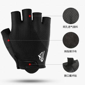 REXCHI Sarung Tangan Sepeda Half Finger Size XL - BF11 - Black