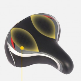 SHENGXIN Sadel Sepeda Comfortable Bike Saddle Model Spring - SX-120 - Black