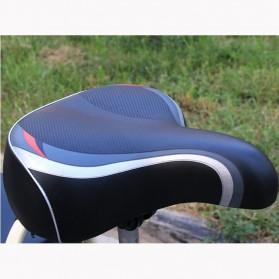 SHENGXIN Sadel Sepeda Comfortable Bike Saddle Model Spring - SX-120 - Black - 5