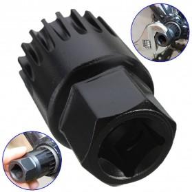 Kunci Crank Rantai Sepeda Wheel Spoke Spanner Wrench Repair Kit - MO1803 - Black - 3