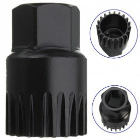 Kunci Crank Rantai Sepeda Wheel Spoke Spanner Wrench Repair Kit - MO1803 - Black - 4