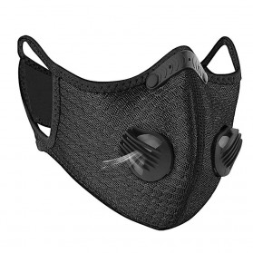 ACE Masker Activated Carbon Breathable Bicycle Mask PM 2.5 Anti Pollution - 311 - Black