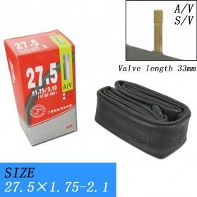 CHAOYANG Ban Dalam Sepeda Bicycle Inner Tire 27.5x1.75-2.1 33mm A/V - RMT1 - Black