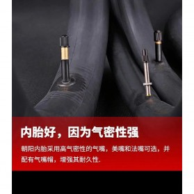 CHAOYANG Ban Dalam Sepeda Bicycle Inner Tire 29x1.75-2.35 33mm A/V - RMT1 - Black - 6