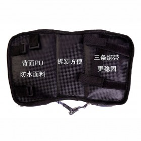 Green Travel Tas Sepeda Handlebar Smartphone Screen Touch Waterproof 6.2 Inch - GT01 - Black Blue - 4
