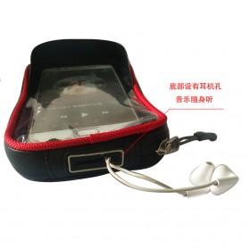 Green Travel Tas Sepeda Handlebar Smartphone Screen Touch Waterproof 6.2 Inch - GT01 - Black Blue - 6