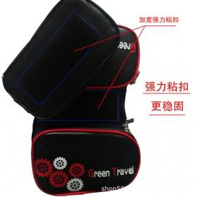 Green Travel Tas Sepeda Handlebar Smartphone Screen Touch Waterproof 6.2 Inch - GT01 - Black - 7