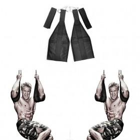 Diposlong Sling Strap Latihan Ab Pull Up Pintu Hanging Belt Chin Up Sit Up Bar Muscle Training - AS30 - Black