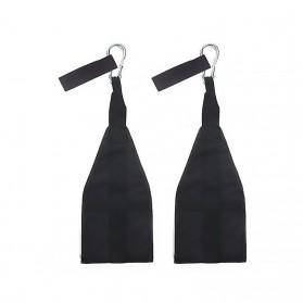 Diposlong Sling Strap Latihan Ab Pull Up Pintu Hanging Belt Chin Up Sit Up Bar Muscle Training - AS30 - Black - 2