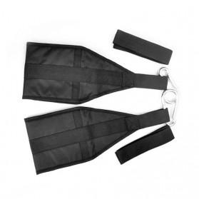 Diposlong Sling Strap Latihan Ab Pull Up Pintu Hanging Belt Chin Up Sit Up Bar Muscle Training - AS30 - Black - 3