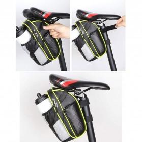 RBB-Bike Tas Sepeda Waterproof Storage Saddle Seat Cycling Tail Rear Pouch Bag - B081 - Black - 4