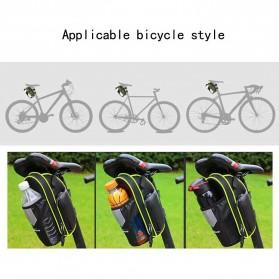 RBB-Bike Tas Sepeda Waterproof Storage Saddle Seat Cycling Tail Rear Pouch Bag - B081 - Black - 5