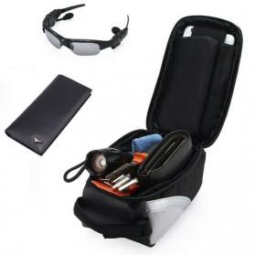 FAROOT Tas Sepeda Waterproof Storage Front Frame Cycling Smartphone Bag - AS689 - Black/Red - 6