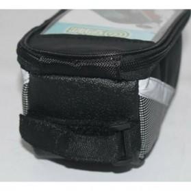 FAROOT Tas Sepeda Waterproof Storage Front Frame Cycling Smartphone Bag - AS689 - Black/Red - 7