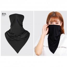 Tromlfz Masker Wool Thermal Balaclava Beanie Scarf Ice Silk - B01 - Black