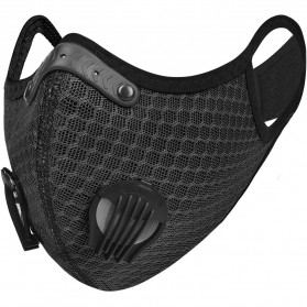 UTOTEBAG Masker Wajah Sports Masks Workout Exercise with Valves Ventilated - 311 - Black