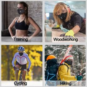 UTOTEBAG Masker Wajah Sports Masks Workout Exercise with Valves Ventilated - 311 - Black - 3