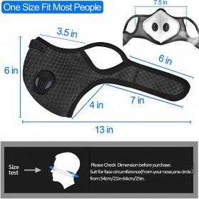 UTOTEBAG Masker Wajah Sports Masks Workout Exercise with Valves Ventilated - 311 - Black - 4
