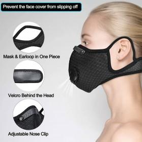 UTOTEBAG Masker Wajah Sports Masks Workout Exercise with Valves Ventilated - 311 - Black - 5
