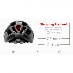 X-TIGER Helm Sepeda Ultralight Cycling Bike Cap with Tail Light - X-TK-06 - Black/Red - 10