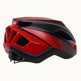 X-TIGER Helm Sepeda Ultralight Cycling Bike Cap with Tail Light - X-TK-06 - Black/Red - 4