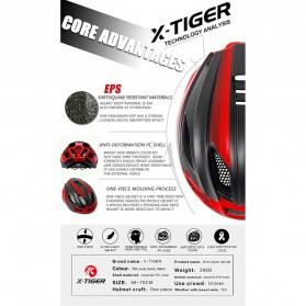 X-TIGER Helm Sepeda Ultralight Cycling Bike Cap with Tail Light - X-TK-06 - Black/Red - 6