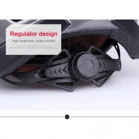X-TIGER Helm Sepeda Ultralight Cycling Bike Cap with Tail Light - X-TK-06 - Black/Red - 9