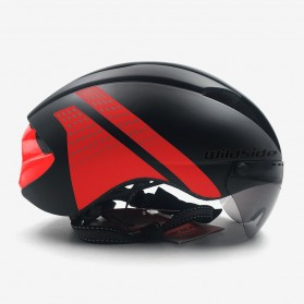 YOHOO-BIKE Helm Sepeda Cycling Bike Helmet Visor Removable Lens - TT-32 - Black/Red