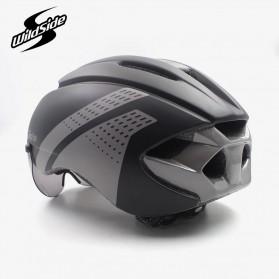 YOHOO-BIKE Helm Sepeda Cycling Bike Helmet Visor Removable Lens - TT-32 - Black/Red - 3